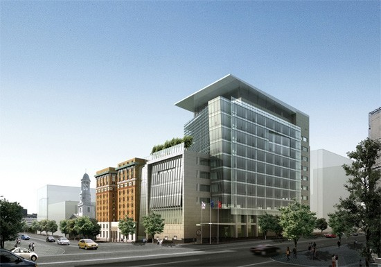 9th street office buildings integral group for Modern office exterior design