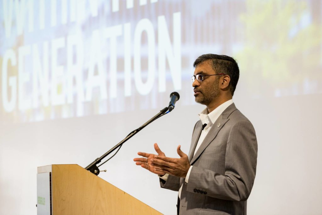 Mahesh Ramanujam, President & CEO, US Green Building Council Photo courtesy USGBC Northern California